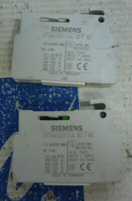 Siemens 3TX4001-2A Auxiliary Contact Block *USED *LOT OF 2