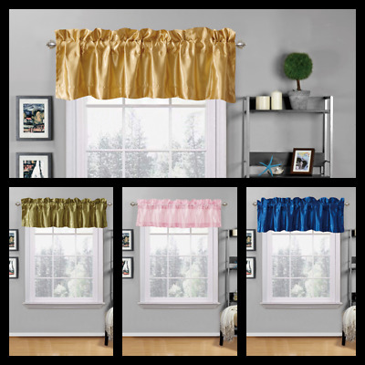 1PC TOP WINDOW VALANCE LINED STRAIGHT MATTE FINISH VERSATILE HOME DECOR RS9
