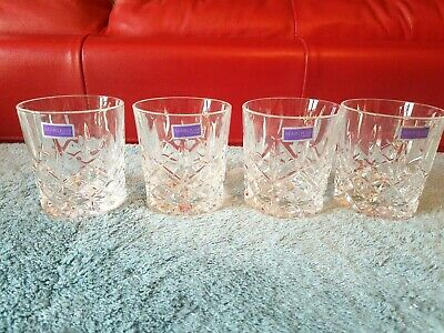 New 4 Pc Set Marquis by Waterford Markham Double Old Fashioned Glasses