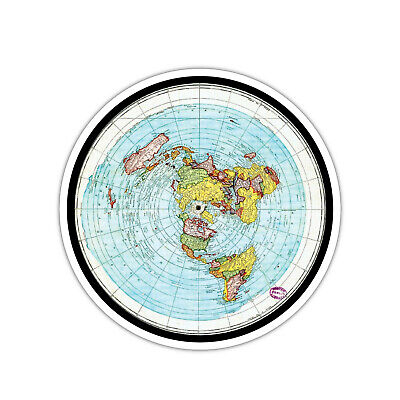 """The Earth Is Flat Decal Sticker 5"""""""