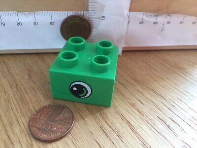 4183780 Two lime 3437 block//brick 2x2 Number Train-Lego Duplo Spare Used