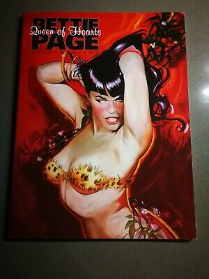 Bettie Page Queen of Hearts by Sim Silke / signed Silke and Dave Stevens