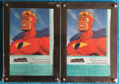 Comic Book Display Frames, Set Of 2, Heavy Duty Acrylic, 2-Sided View, Brand New