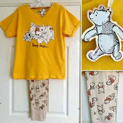 Disney WINNIE THE POOH 2-Piece Cotton Pyjama Set - Large 14-16 - Primark - NEW