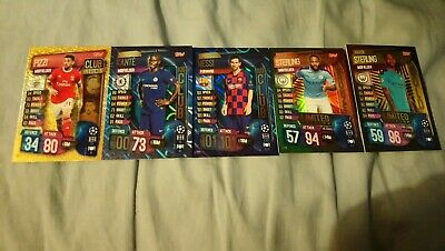 Match attax 2019/20 messi 100 club, sterling limited edition gold silver bronze