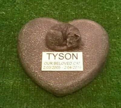 cat Large Pet Memorial/headstone/stone/grave marker/memorial with plaque nw2