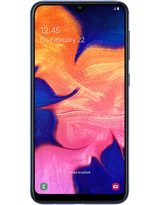 Samsung Galaxy A10 Sm-A105Fn/Ds Factory Unlocked 2Gb Ram 32Gb Blue