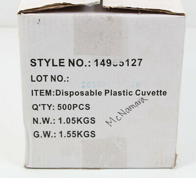 Fisher Scientific Cuvette Polystyrene 4.5ml | Fisherbrand 14955125 - Case of 500