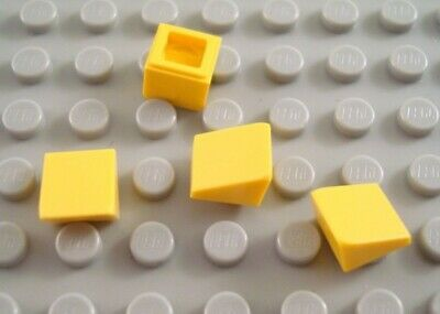 New LEGO Lot of 4 Yellow 1x1x2//3 Mini Slope Pieces