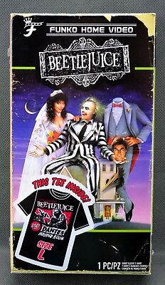 NIP Funko Beetlejuice T Shirt Size L Large Tee Packaged as Home Video VHS