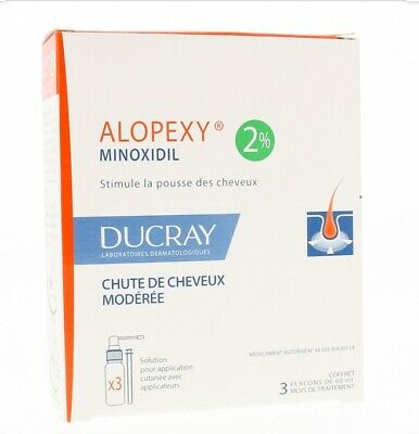 Ducray alopexy minoxidil French brand hair loss therapy 3 month supply