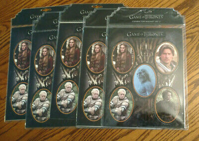 Lot of 5 Game of Thrones Character Magnet Set 2 Darkhorse HBO NEW