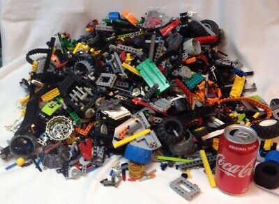 15 Pounds Lbs Lego TECHNIC Mindstorm Parts Gears Beams Lot # 2