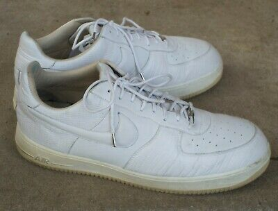NIKE AIR FORCE 1 Lux Italian Leather White White Straw
