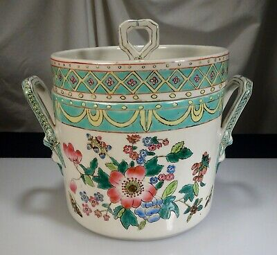 Chinese Porcelain Covered Ice Cooler Bucket  -   57263