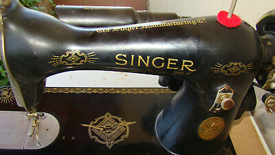 1937 Singer 15 Sewing Machine Serial Number: AE557428