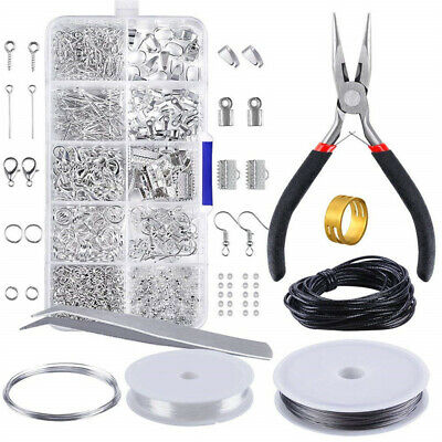 10 Grids Findings And Beading Jewelry Making Kit Beginners Supplies Repair Tool