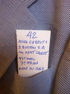 ** Nino Cerruti 1881** Great Price Jacket 42 Single Breasted Made In Italy