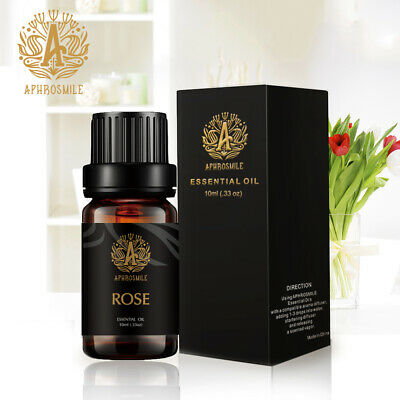 Pure Rose Oil 100% Natural Pure Essential Oil Aromatherapy Therapeutic Rose 10ml