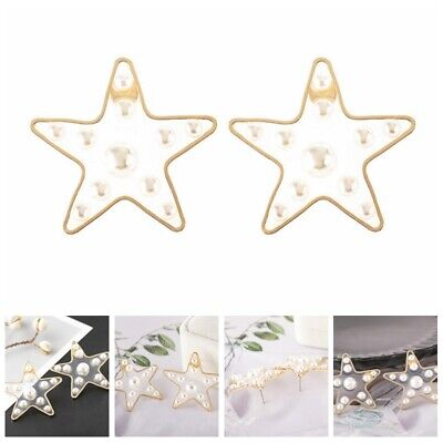 1 Pair of Lady Fashion Metal Gold Stars Transparent Resin Pearl Ear Stud Earring