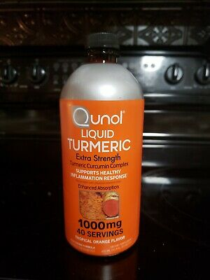 Qunol Liquid Turmeric Curcumin with Bioperine 1000 Milligram, Tropical Orange