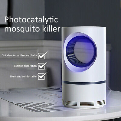 Silent Electric Insect Trap USB Pest Repeller Mosquito Killer Lamp Zapper