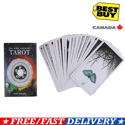 ❀78pcs the Wild Unknown Tarot Deck Rider-Waite Oracle Set Fortune Telling Cards❀