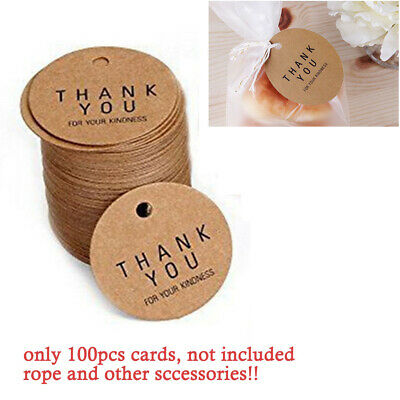 Round Tag Craft Hang Price Label Handmade Gift Clothing Paper Retro DIY Wedding