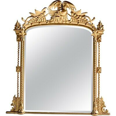 Antique French Overmantle Mirror Louis XV Style 19th Century Large Circa 1875
