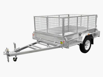 7x4 Box trailer fully welded Galvanised with 600 cage