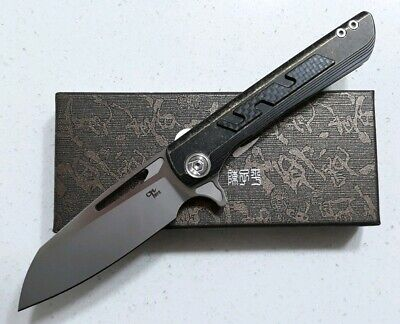 CH Knives Butcher 2. S35VN Blade Titanium & Carbon Fiber with Ceramic Bearings.