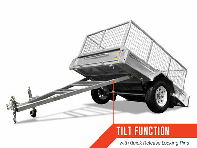 7x5 Box trailer fully welded Galvanised with 600 cage