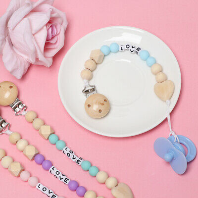 Teether Newborn Feeding Nipple Baby Pacifier Chain Soother Holder Dummy Clips