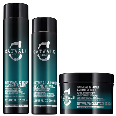 Kit Capelli Ricci TIGI Oatmeal & Honey Shampoo 300ml+Balsamo 250ml+Mask 200ml