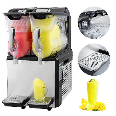 Slush Frozen Drink Machine 2x10L Double Tank Frozen Drink Single Bowl Frozen Ice