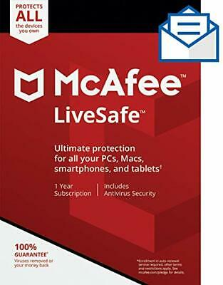Mcafee Livesafe Subscription *Code Only* Renewal Software