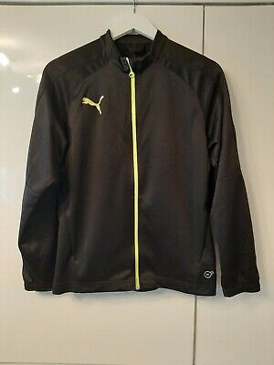 Boys Puma Dry Cell Tracksuit Top Age 13 to 14 Years Old Black Unisex Girls