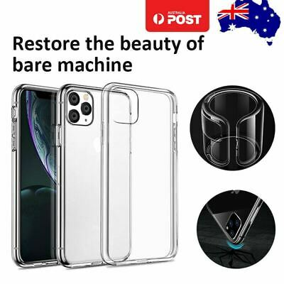 【Shockproof】iPhone 11 Pro Max Clear Case Bumper Crystal Slim Cover Silicone