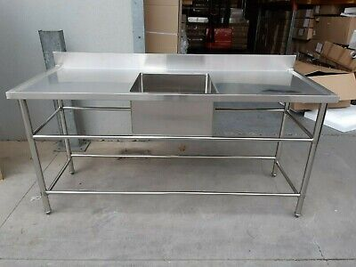 Brand New Commercial Stainless Steel Single Sink in middle 1800x700x900 mm