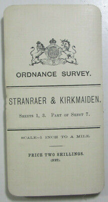 1903 OS Ordnance Survey Scotland One-inch Third Ed Map 1, 3 Stranraer Kirkmaiden