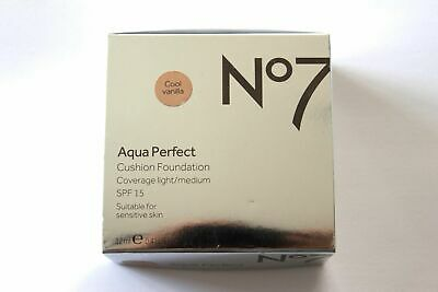 No.7 Aqua Perfect Cushion Foundation SPF15 -New Boxed Authentic- Pick Your Shade