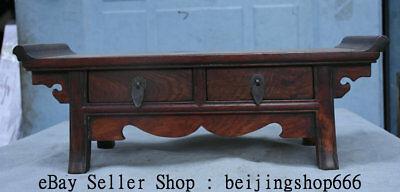 """16.8"""" Rare Chinese Huanghuali Wood Dynasty 2 Drawer Table Desk Antique Furniture"""