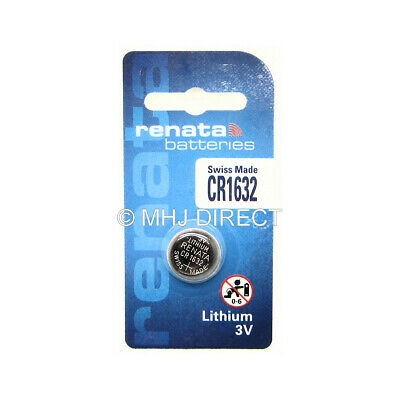Genuine RENATA CR1632 Lithium 3v Coin Cell Batteries SELECT 1 2 4 x QTY Exp 2025