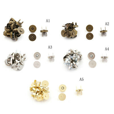 10 Sets/lot Bag Purse Clasps Sewing Buttons Magnetic Metal Snaps Fasteners ne_vi