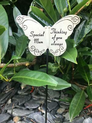 Mum Butterfly Stick - Memorial Tribute Spike - Remembrance Stake Plaque