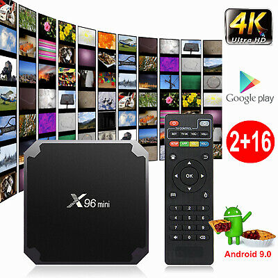 X96MINI Android 9.0 Pie 4K Quad Core Smart TV BOX WIFI 2+16G Media Player Sports