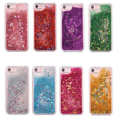 Quicksand Dynamic Liquid Glitter Clear Hard Phone Case For iPhone X 8 7 6S Plus