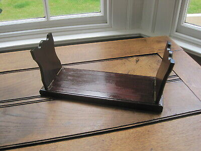 Early 20th c. Mahogany Book Slide Stand #