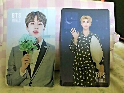 BTS - WORLD OST OFFICIAL RM Namjoon & Jin GAME COUPON PHOTO CARD KPOP UNUSED