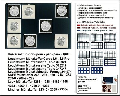Look 12332-12-67 Coin Trays Blue 12 Compartments 67 mm for Quadrum Capsules XL